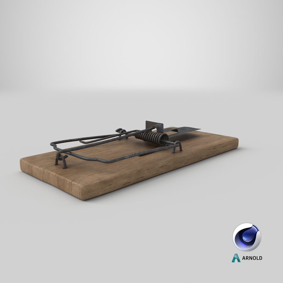 Mouse Trap Aged royalty-free 3d model - Preview no. 15