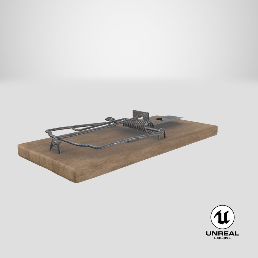Mouse Trap Aged royalty-free 3d model - Preview no. 17