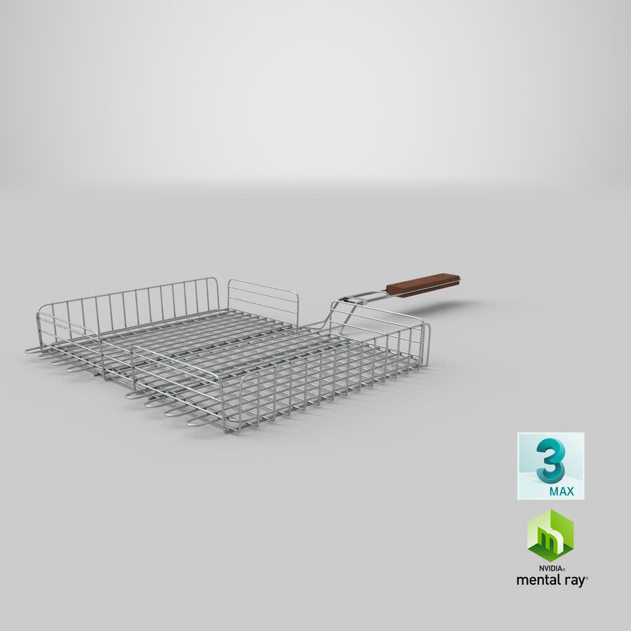 Grill Basket royalty-free 3d model - Preview no. 18