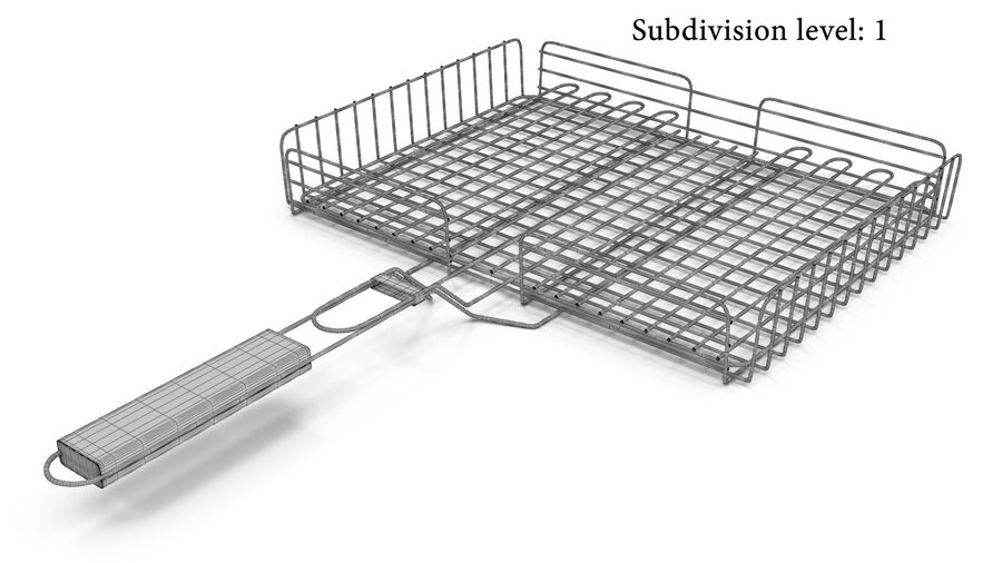 Grill Basket royalty-free 3d model - Preview no. 7