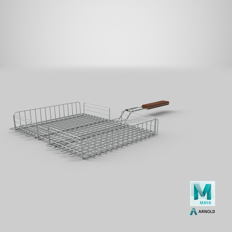 Grill Basket royalty-free 3d model - Preview no. 20