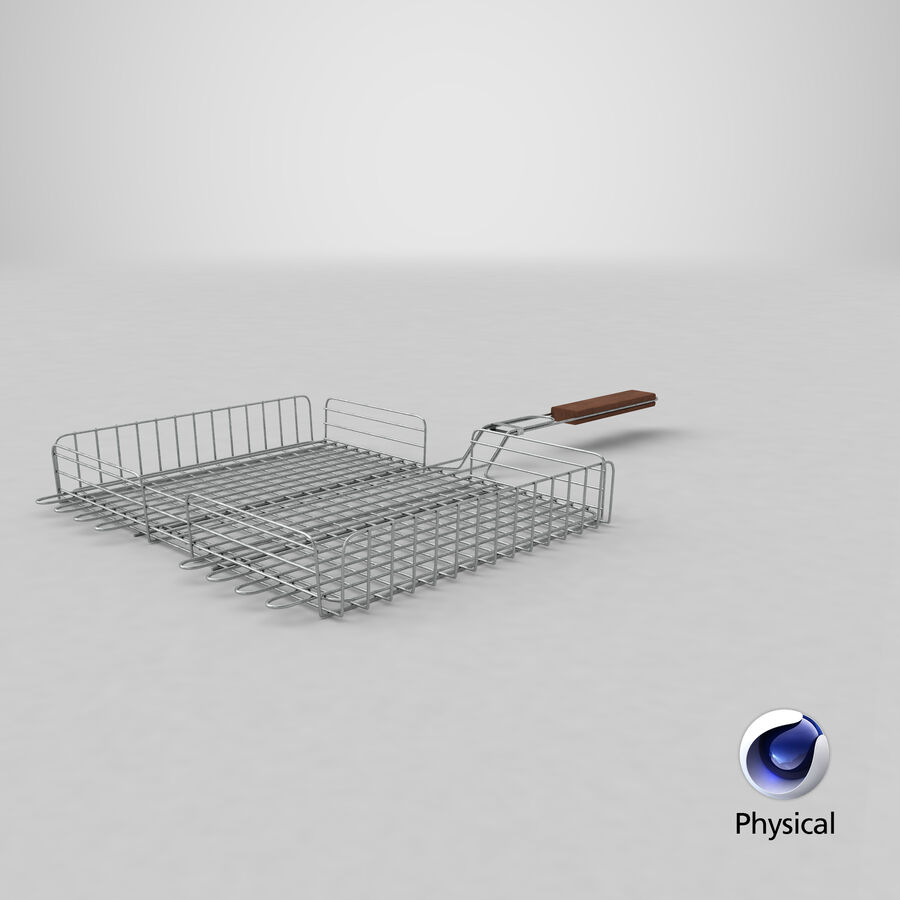 Grill Basket royalty-free 3d model - Preview no. 13