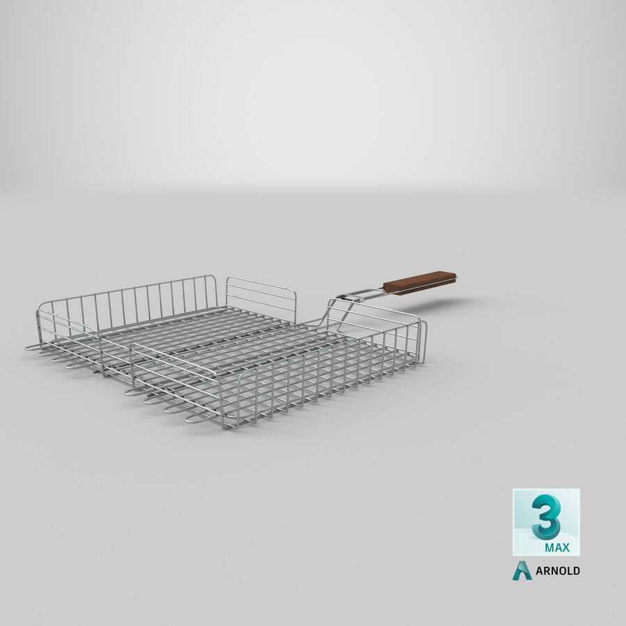 Grill Basket royalty-free 3d model - Preview no. 17