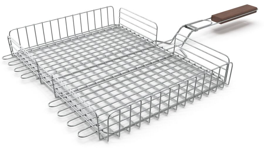 Grill Basket royalty-free 3d model - Preview no. 9