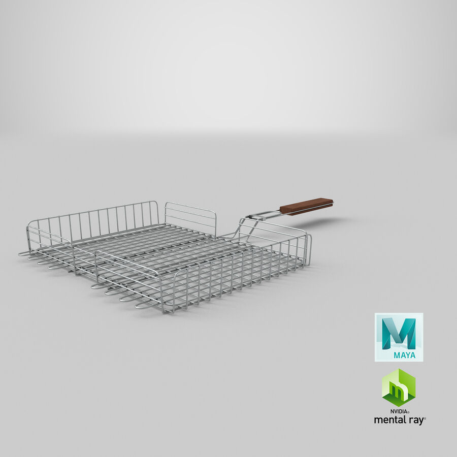 Grill Basket royalty-free 3d model - Preview no. 21