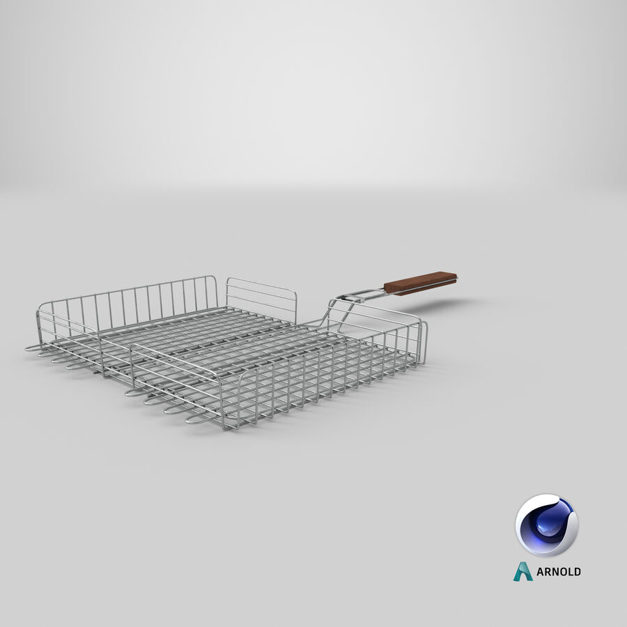 Grill Basket royalty-free 3d model - Preview no. 14