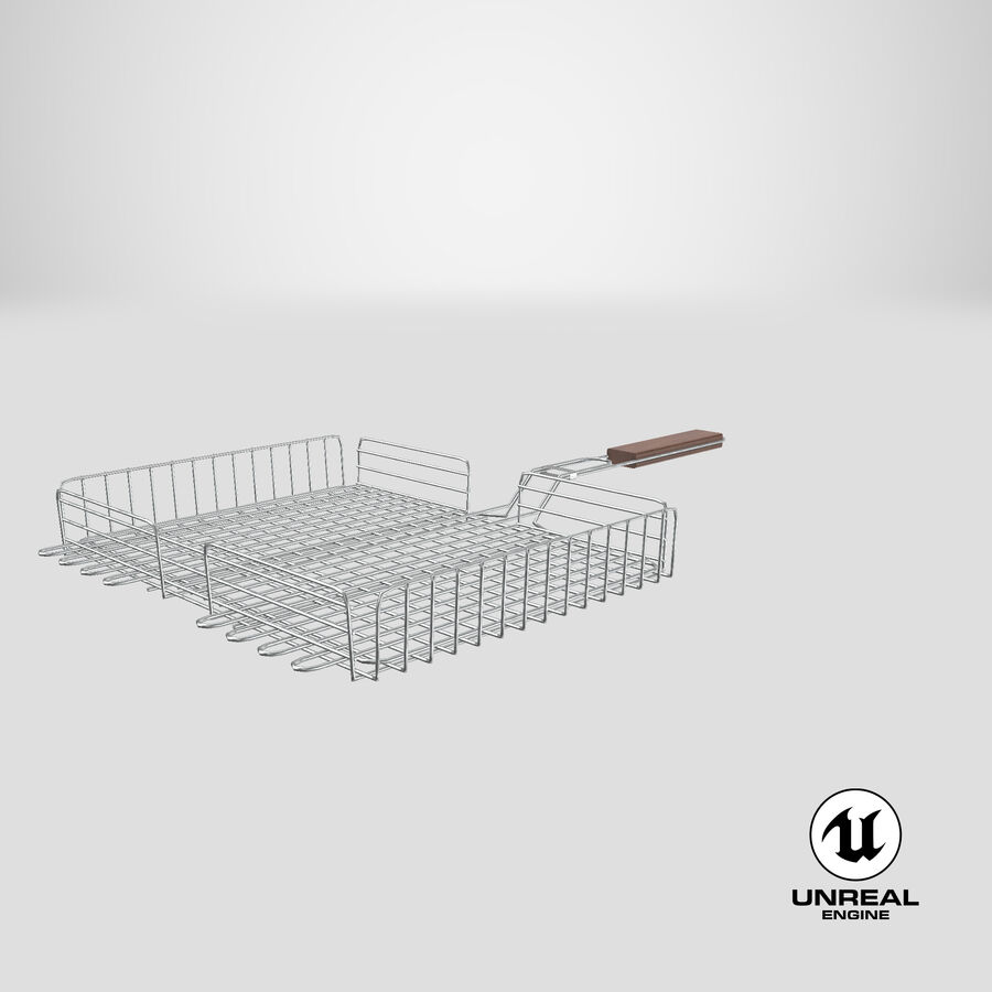 Grill Basket royalty-free 3d model - Preview no. 16