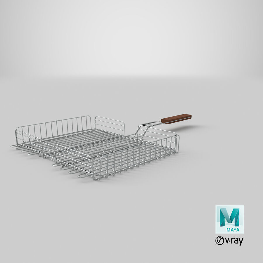 Grill Basket royalty-free 3d model - Preview no. 22