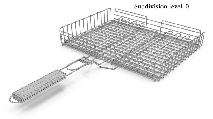 Grill Basket royalty-free 3d model - Preview no. 6