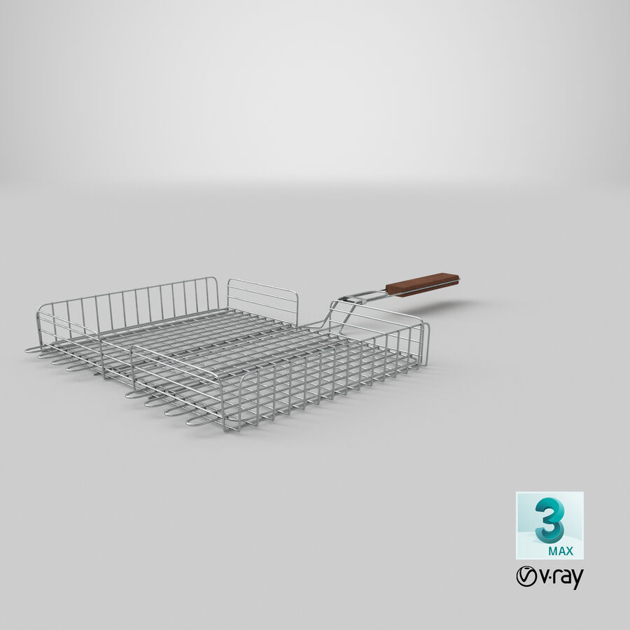 Grill Basket royalty-free 3d model - Preview no. 19