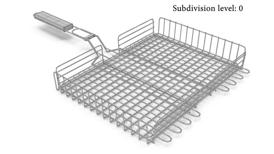 Grill Basket royalty-free 3d model - Preview no. 4