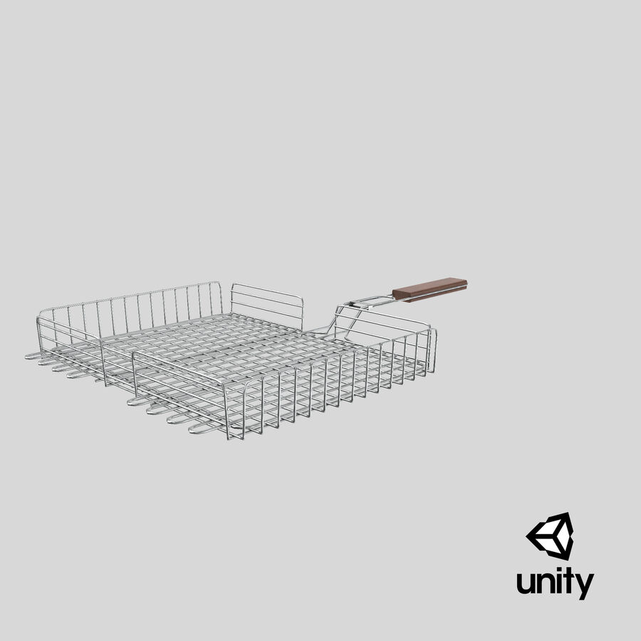 Grill Basket royalty-free 3d model - Preview no. 15