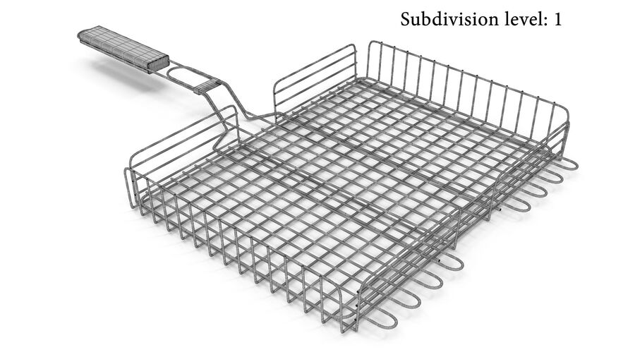 Grill Basket royalty-free 3d model - Preview no. 5