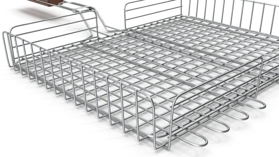 Grill Basket royalty-free 3d model - Preview no. 8