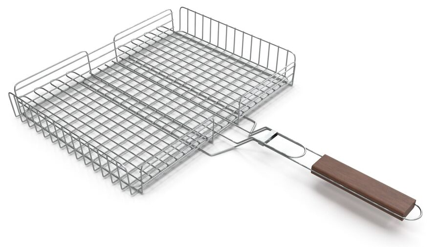 Grill Basket royalty-free 3d model - Preview no. 10