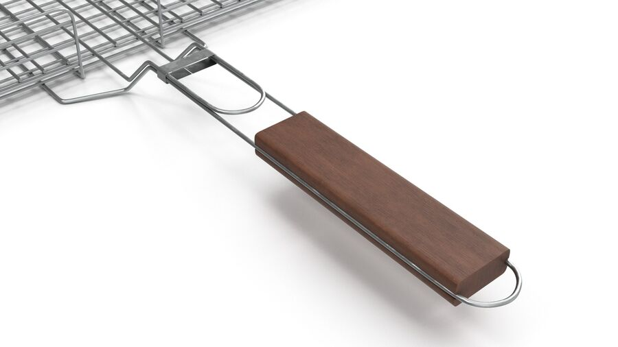 Grill Basket royalty-free 3d model - Preview no. 3