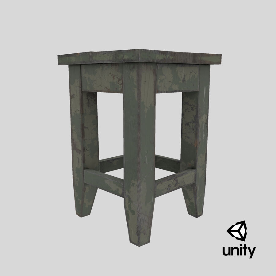 Stool USSR royalty-free 3d model - Preview no. 18