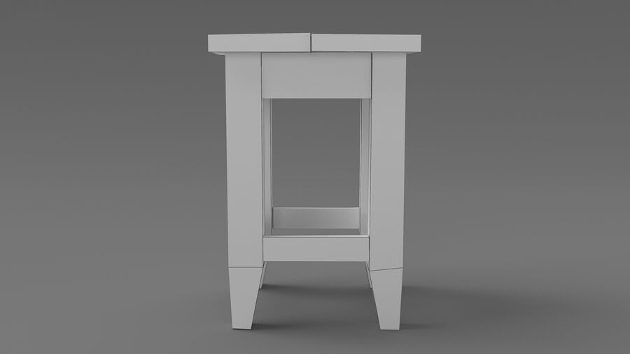 Stool USSR royalty-free 3d model - Preview no. 4
