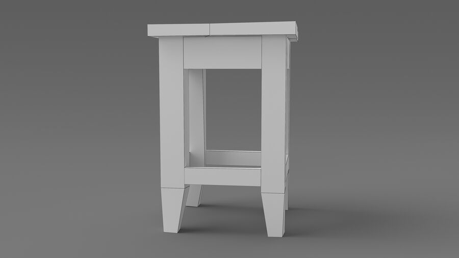 Stool USSR royalty-free 3d model - Preview no. 10