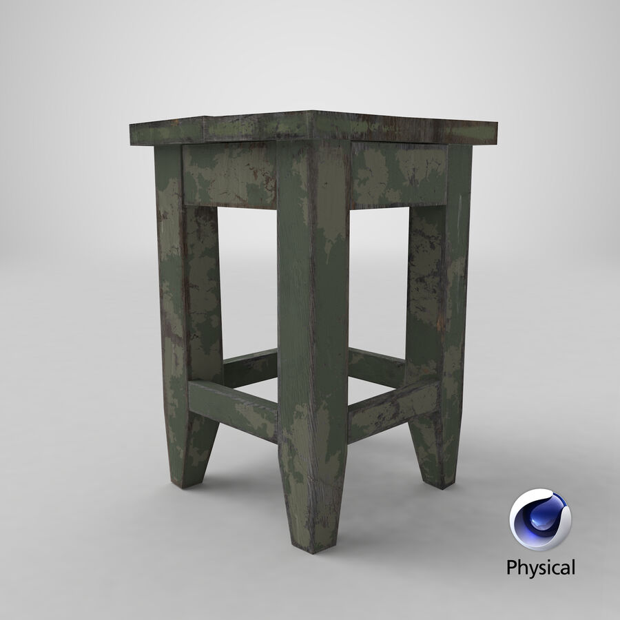 Stool USSR royalty-free 3d model - Preview no. 16