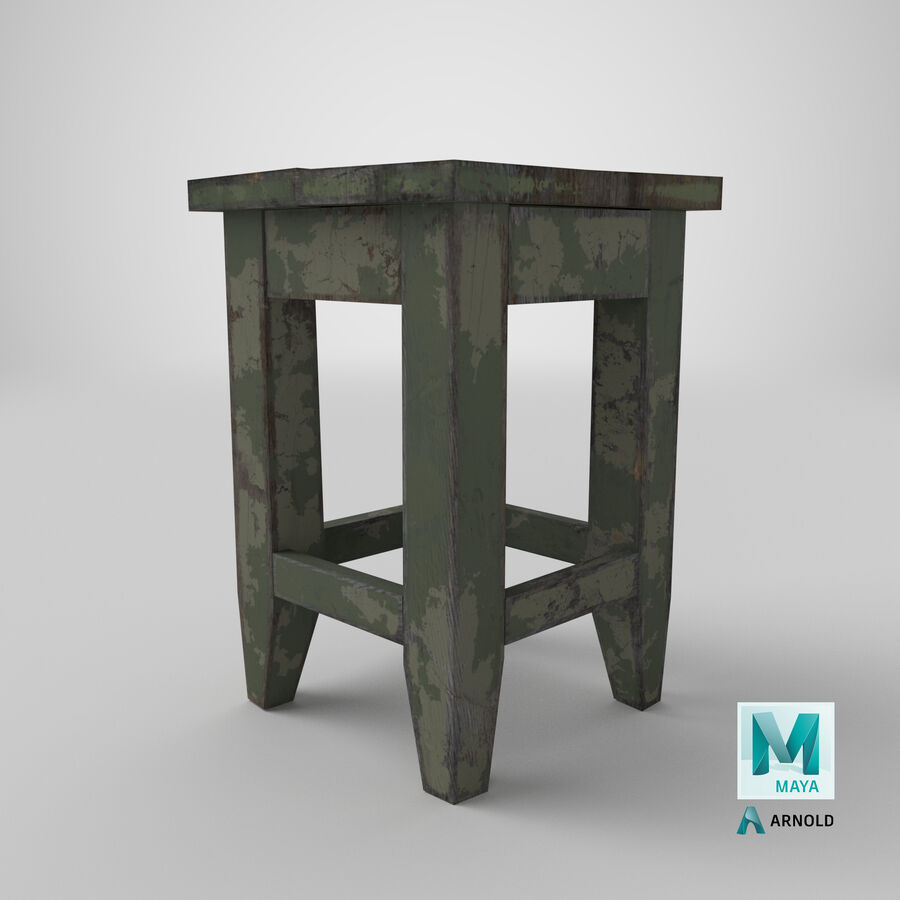 Stool USSR royalty-free 3d model - Preview no. 23
