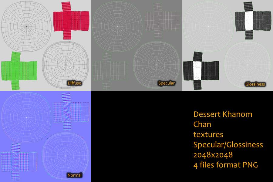 Dessert Khanom Chan royalty-free 3d model - Preview no. 4