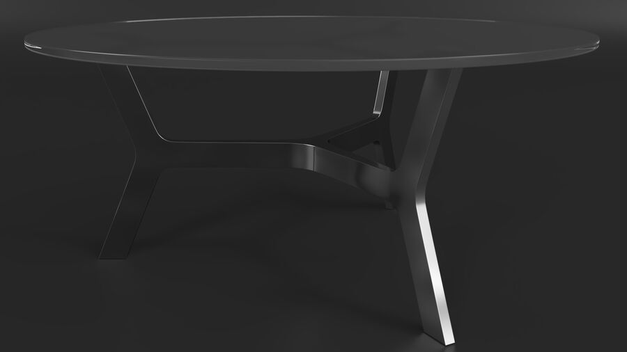 Elke Round Coffee Table royalty-free 3d model - Preview no. 4