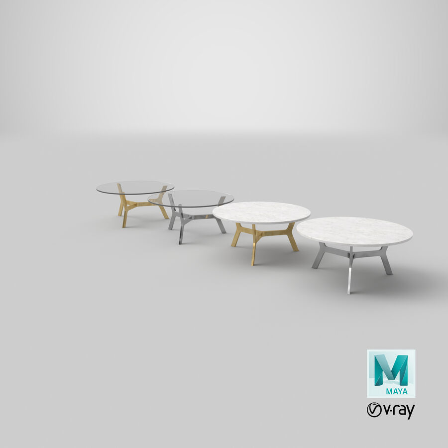 Elke Round Coffee Table royalty-free 3d model - Preview no. 32
