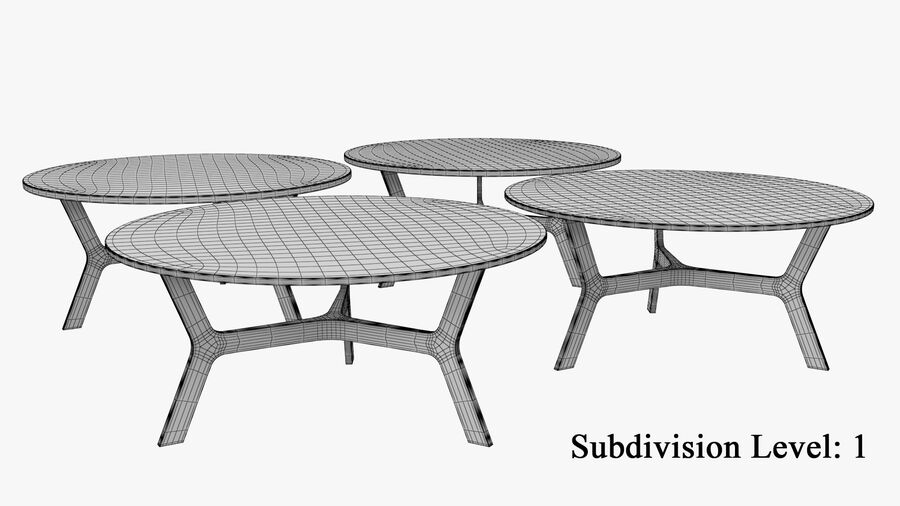 Elke Round Coffee Table royalty-free 3d model - Preview no. 11