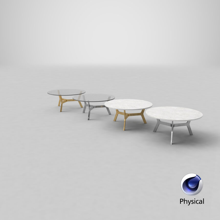 Elke Round Coffee Table royalty-free 3d model - Preview no. 23