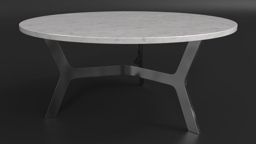 Elke Round Coffee Table royalty-free 3d model - Preview no. 6
