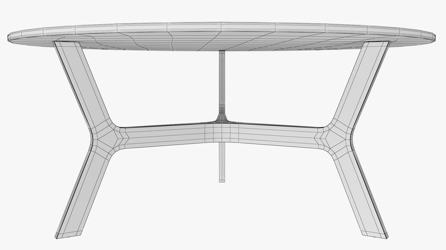 Elke Round Coffee Table royalty-free 3d model - Preview no. 14