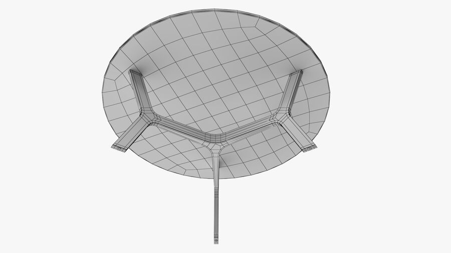 Elke Round Coffee Table royalty-free 3d model - Preview no. 12