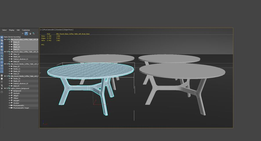 Elke Round Coffee Table royalty-free 3d model - Preview no. 22