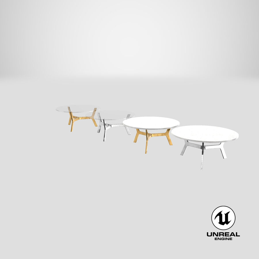 Elke Round Coffee Table royalty-free 3d model - Preview no. 26