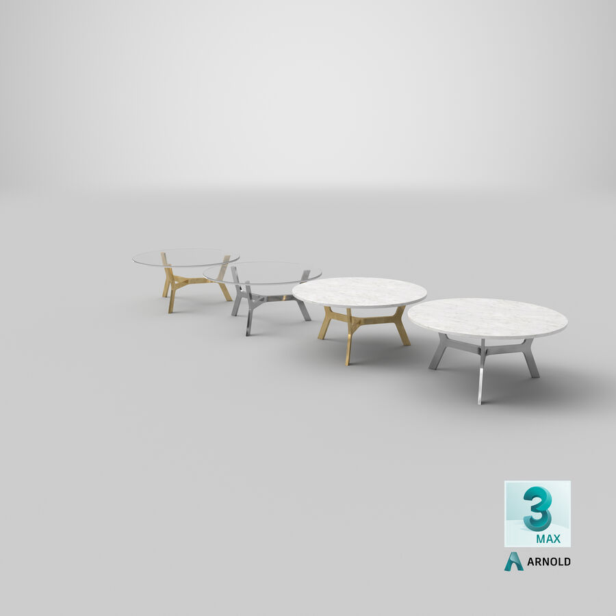 Elke Round Coffee Table royalty-free 3d model - Preview no. 27