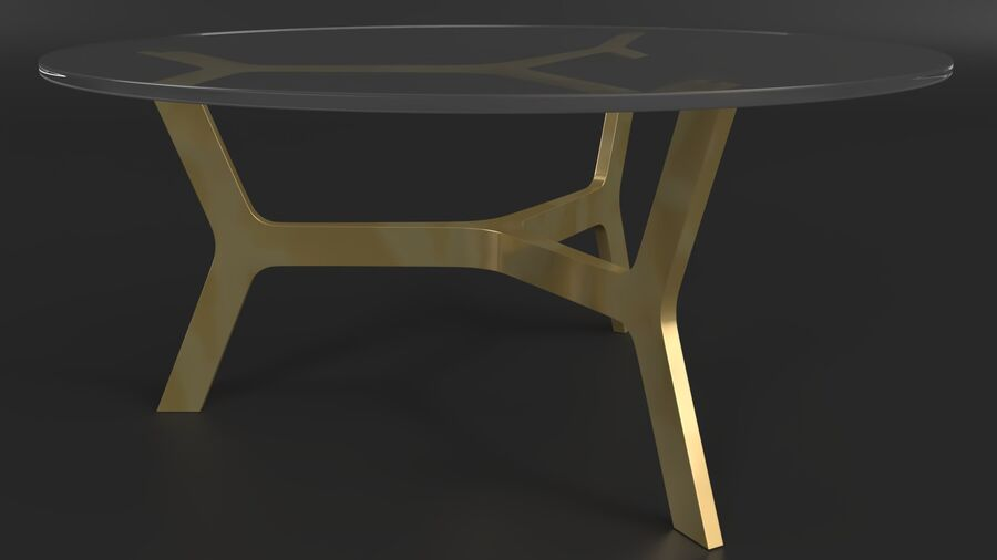 Elke Round Coffee Table royalty-free 3d model - Preview no. 3