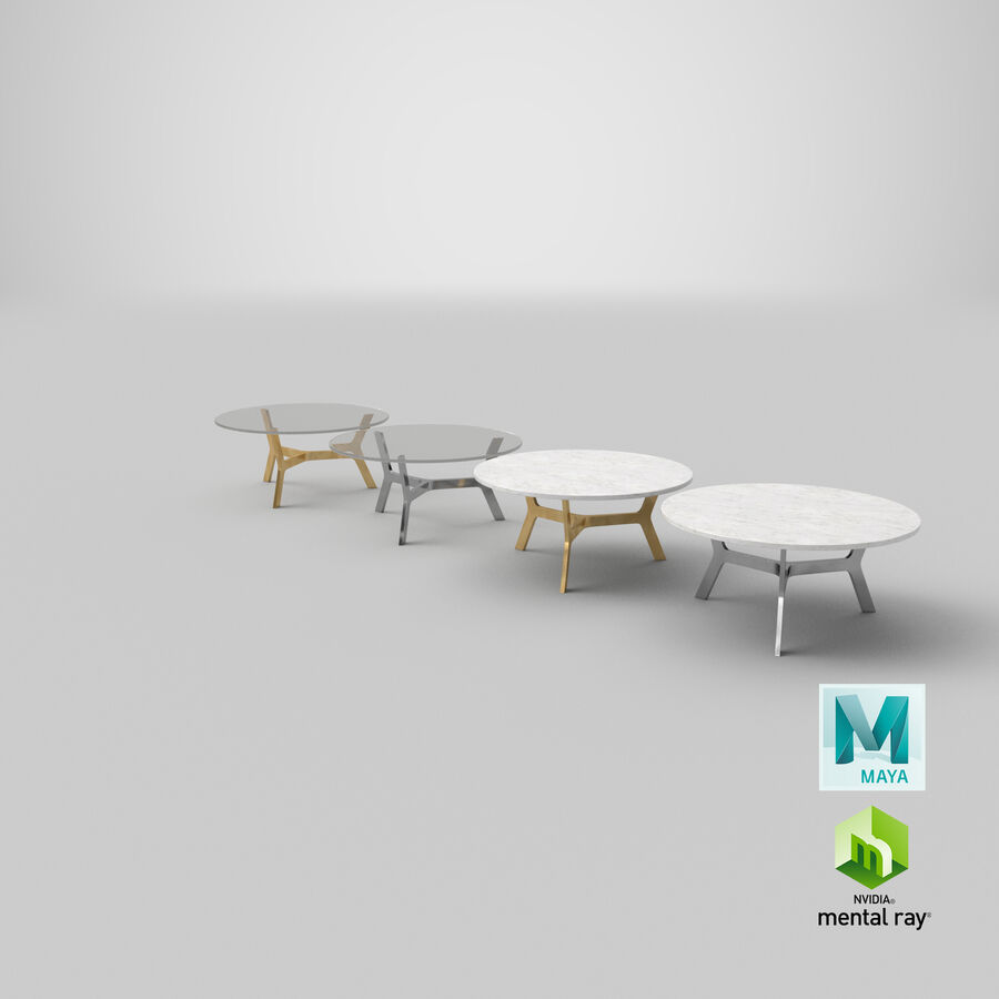 Elke Round Coffee Table royalty-free 3d model - Preview no. 31