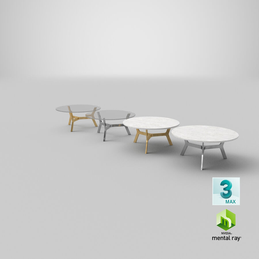Elke Round Coffee Table royalty-free 3d model - Preview no. 28