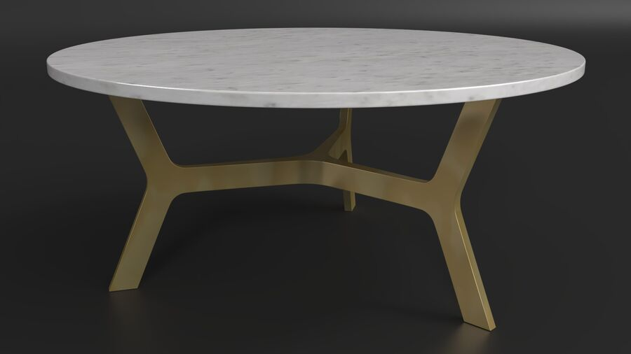 Elke Round Coffee Table royalty-free 3d model - Preview no. 5