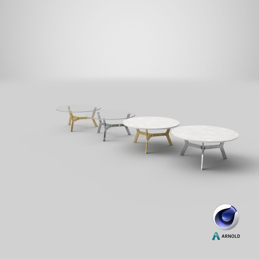Elke Round Coffee Table royalty-free 3d model - Preview no. 24