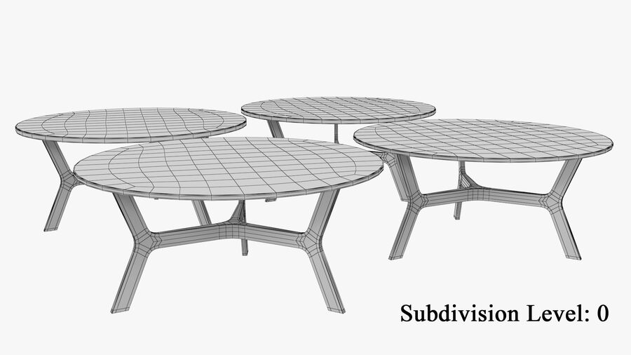 Elke Round Coffee Table royalty-free 3d model - Preview no. 10