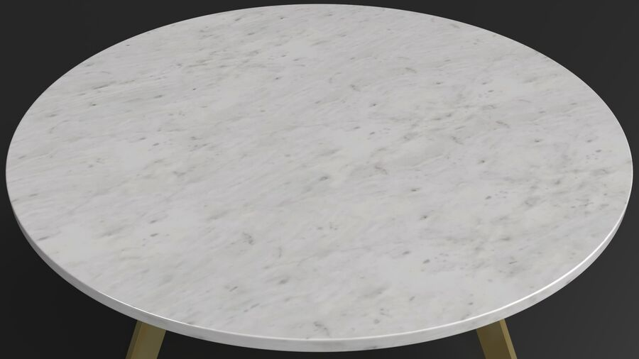 Elke Round Coffee Table royalty-free 3d model - Preview no. 8