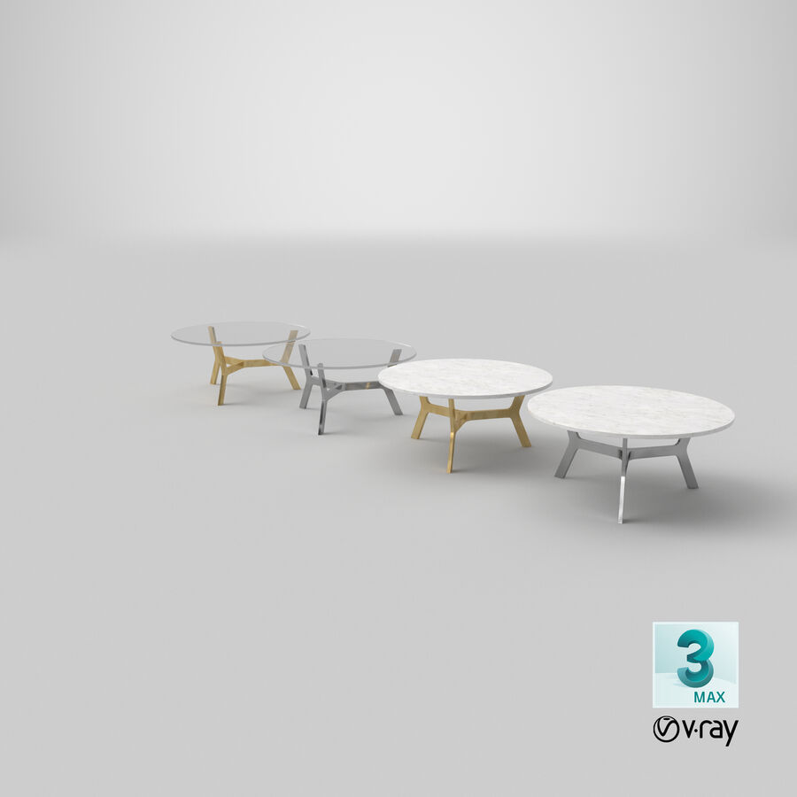 Elke Round Coffee Table royalty-free 3d model - Preview no. 29