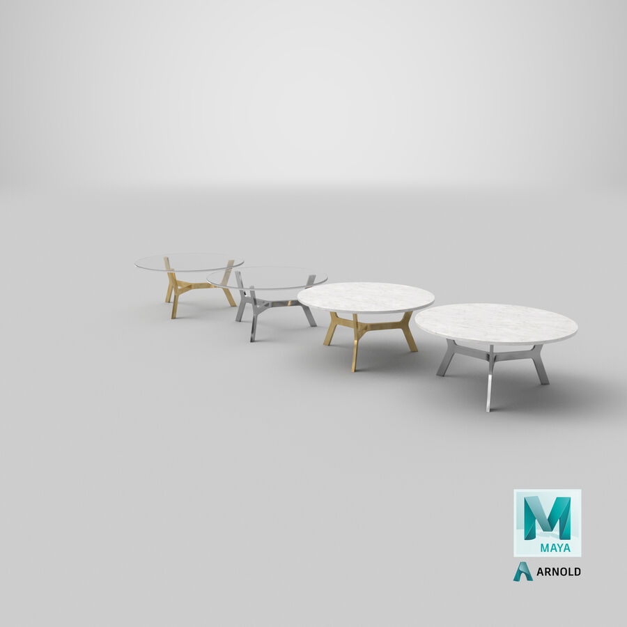 Elke Round Coffee Table royalty-free 3d model - Preview no. 30