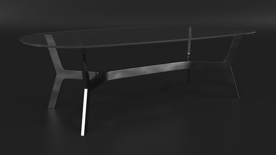 Elke Rectangular Coffee Table royalty-free 3d model - Preview no. 4