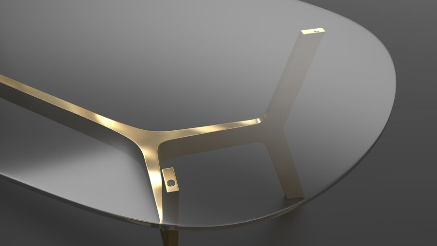 Elke Rectangular Coffee Table royalty-free 3d model - Preview no. 9