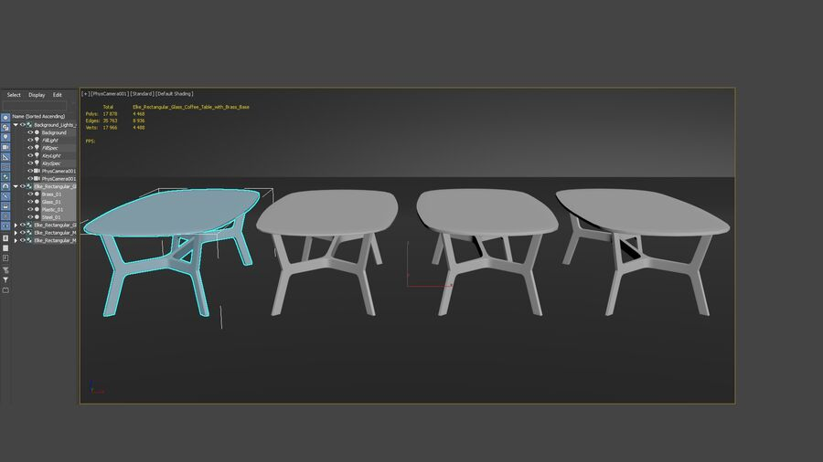 Elke Rectangular Coffee Table royalty-free 3d model - Preview no. 22