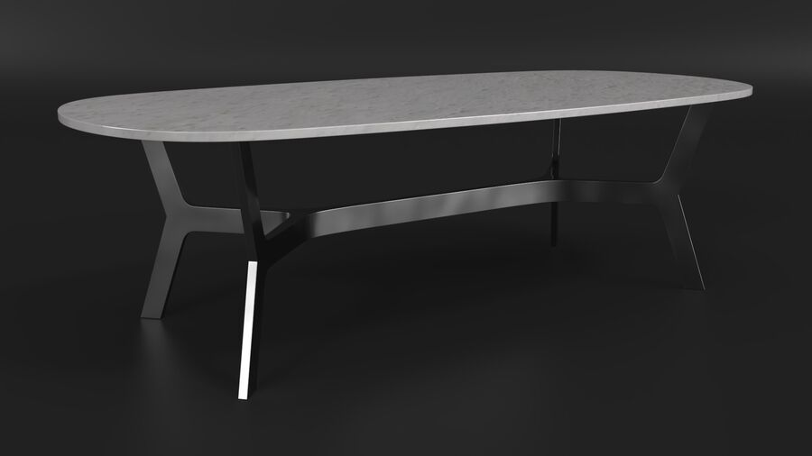 Elke Rectangular Coffee Table royalty-free 3d model - Preview no. 6