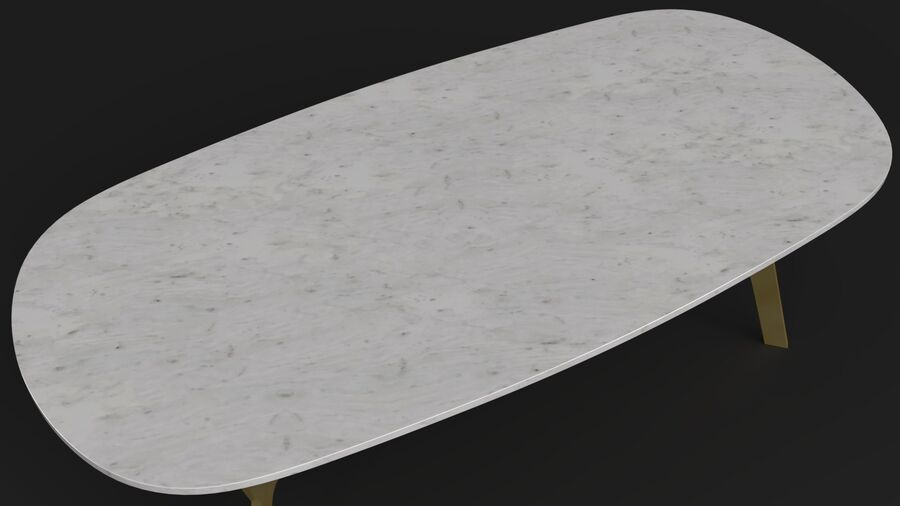 Elke Rectangular Coffee Table royalty-free 3d model - Preview no. 8